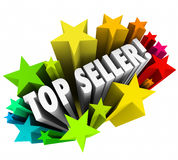 Top Seller Sales Person Stars Best Employee Worker Results stock illustration