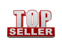 Top seller in 3d letters and block Stock Photo