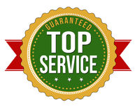 Top service guaranteed badge. On white background, vector illustration Royalty Free Stock Images