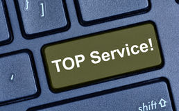 Top service word on computer keyboard Royalty Free Stock Image