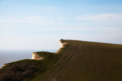 Top of Seven Sisters cliffs, England, UK. Royalty Free Stock Image