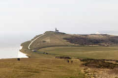 Top of Seven Sisters cliffs, England, UK. Stock Photo