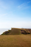 Top of Seven Sisters cliffs, England, UK. Royalty Free Stock Photography