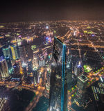 Top of Shanghai. Shanghai World Financial Center. View from Shanghai ower Stock Photography