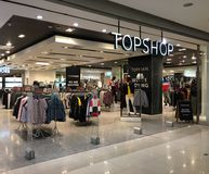 Top Shop store in Central World mall, Bangkok. BANGKOK - DECEMBER 13, 2017: Topshop store in Central World mall. Topshop originally Top Shop is a British Stock Photography