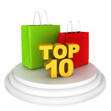 Top shopping brands Stock Photo