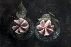 Top short of Psidium guajava Guavas on wet surface Stock Photo