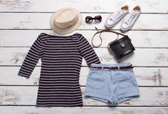 Top with shorts and shoes. Royalty Free Stock Photo