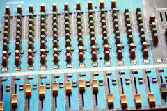 Top shot of a mixing console Stock Images