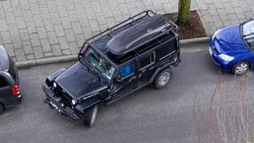 Top shot of parallel parking