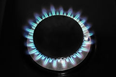 Top shot stove flame Stock Image