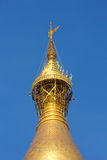 Top of Shwedagon pagoda, umbrella, vane, diamond bud Stock Photography