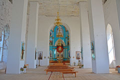 Top side-altar of Trinity Cathedral in the Gus-Zhelezny settlement, Russia Stock Photography