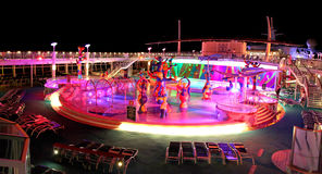 Top side deck at Liberty of the Seas. Stock Image