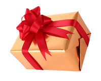 Top side gift box new year Royalty Free Stock Photography