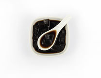 Top side grass jelly Stock Image