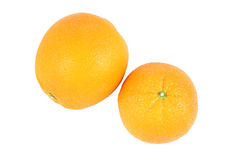 Top side orange. On white background Royalty Free Stock Images
