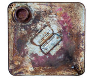 The top side of rusty old bucket Royalty Free Stock Photography