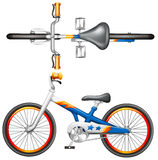 A top and side view of a bicycle Royalty Free Stock Image