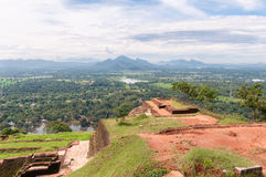 Top of the Sigiriya Rock Temple Royalty Free Stock Photos
