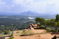 Top of Sigiriya Rock. Sigiriya Is UNESCO Listed World Heritage Site In Sri Lanka Royalty Free Stock Images