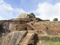 At the top of the Sigiriya, Sri Lanka royalty free stock photography