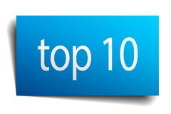 Top 10 sign. Top 10 square paper sign isolated on white background. top 10 button. top 10 Vector Illustration