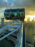 At the top of the Singapore Flyer. Sunset during a ride on the Singapore ferris wheel Stock Photography