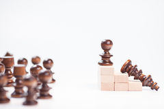 On the top situation. Chess on the top situation Royalty Free Stock Images