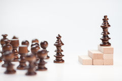 On the top situation. Chess on the top situation Stock Image