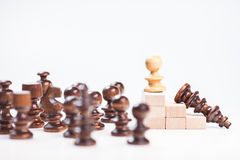 On the top situation. Chess on the top situation Royalty Free Stock Photography