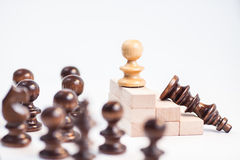 On the top situation. Chess on the top situation Stock Photo