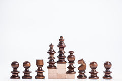 On the top situation. Chess on the top situation Royalty Free Stock Photo