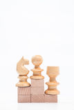 On the top situation. Chess on the top situation Royalty Free Stock Image