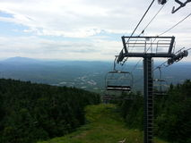 Top of a ski lift in the summer. Gorgeous mountain in the summer Royalty Free Stock Photography