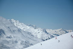 Top Skiing Region Arlberg Stock Photo