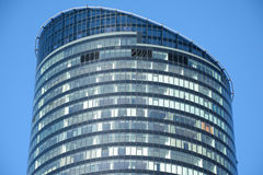 Top of Sky Tower office building in Wroclaw, Poland Royalty Free Stock Image