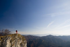 At the top with skyline Royalty Free Stock Photos