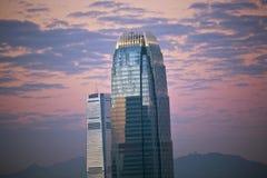 Top of skyscraper at night in Hong Kong Stock Photography