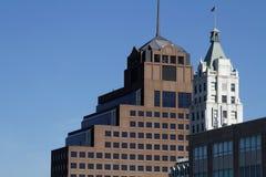 Top of skyscrapers Stock Image