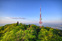 The top of Sleza mountain, Poland Stock Photo