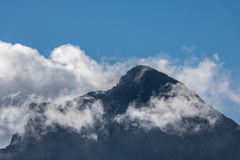 Top of Slovak national mountain called Krivan in High Tatras Royalty Free Stock Photography