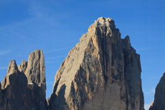 Top small and big top of Lavaredo Stock Photography