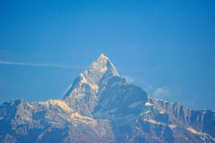 Top on the snow mountains in Nepal Royalty Free Stock Images