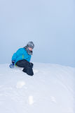 On the top of a snowdrift Royalty Free Stock Image