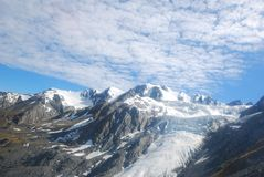 Top of the snowy mountain Royalty Free Stock Photo