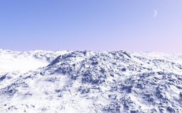 Top of the snowy mountains Royalty Free Stock Image