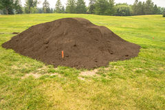 Top Soil Pile in City Park Royalty Free Stock Image