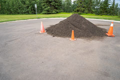 Top soil pile on construction site Royalty Free Stock Image