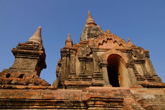 Top of South Guni temple in Bagan Royalty Free Stock Photography